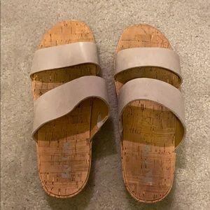 Korks Two Strap Sandals